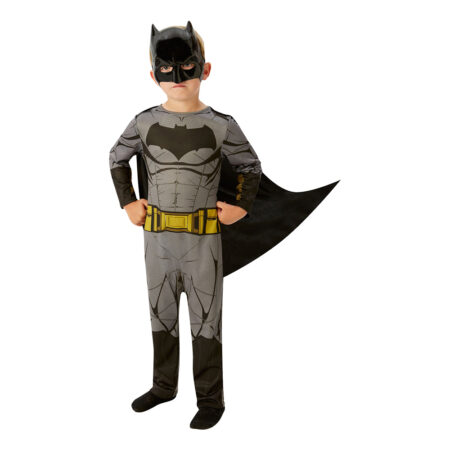 justice league batman børnekostume grå batman udklædning superhelt fastelavnskostume