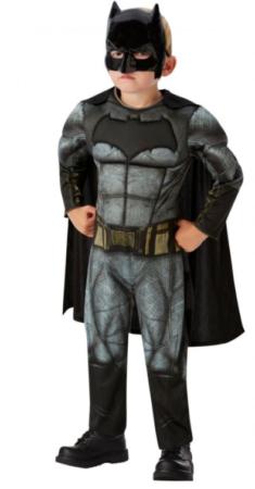 justice league batman kostume til dreng fastelavnskostume 6 år sort kostume til barn batman børnekostume batman udklædning