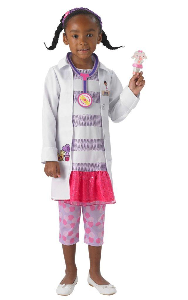 læge kostume til børn dyrlæge kostume udklædning fastelavn temafest dyrlægetøj doktor mcstuffins doctor mcstufins doktor mcstuffin udklædning