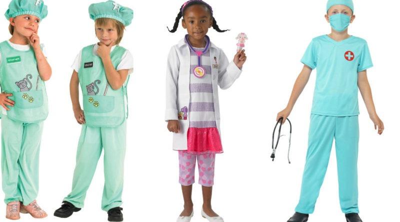 læge kostume til børn dyrlæge kostume udklædning fastelavn temafest dyrlægetøj doktor mcstuffins doctor mcstufins doktor mcstuffin udklædning kirurg kostume