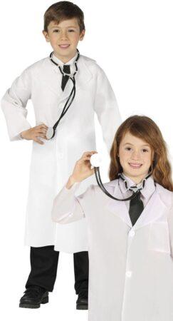 læge kostume til børn hvid kittel til barn fastelavnskostume læge uniform udklædning