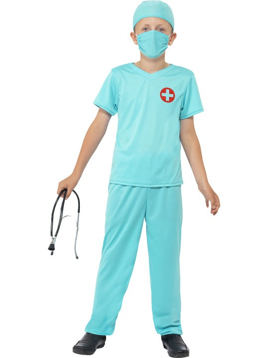 læge kostume til børn lægeudklædning fastelavn doktorudklædning doktorkostume dyrlægeudklædning