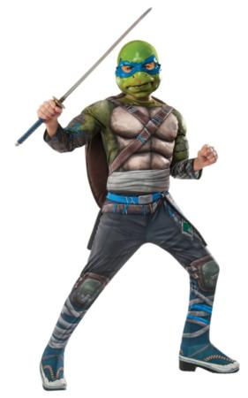 leonardo kostume med sværd ninja turtle børnekostume