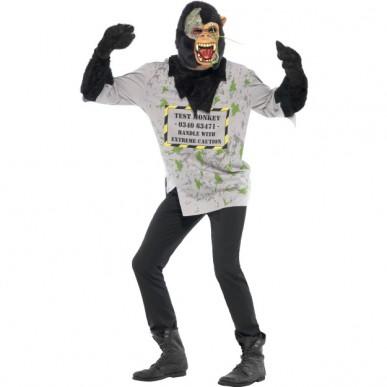 mutant abe kostume til voksne farligt abe halloweenkostume sidste skoledag kostume