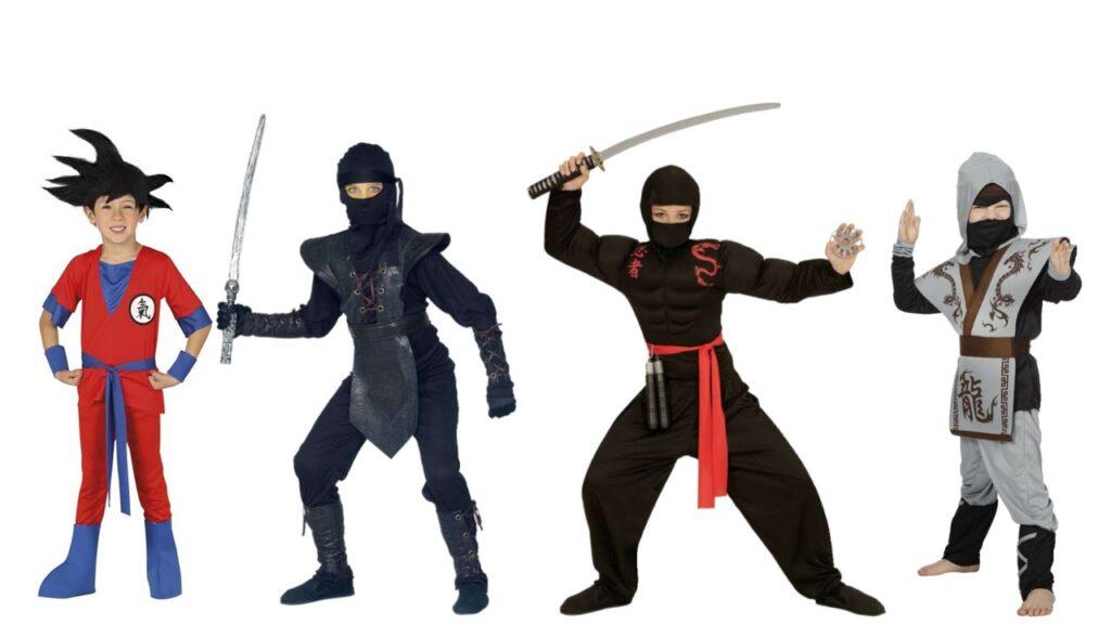 ninja kostume til børn ninja mester kostume til børn ninja børnekostume japansk kostume til børn