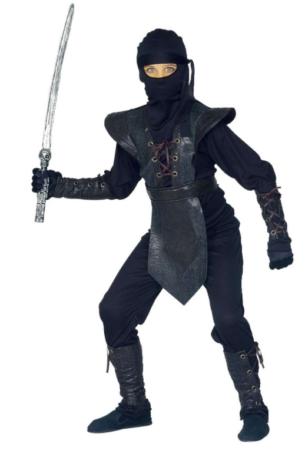 ninja master kostume til børn sort nina børnekostume kampsport kostume til børn japansk kostume til børn