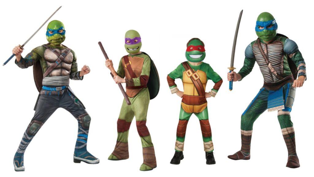 ninja turtle kostume itl børn ninja turtle børnekostume