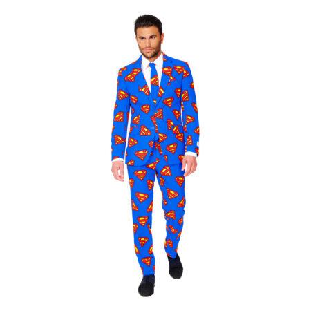 opposuits superman jakkesæt til voksne superhelt jakkesæt til mænd