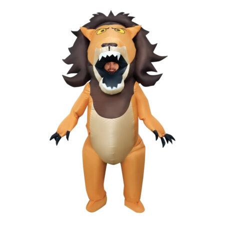 oppustelig løve kostume 450x450 - Løve kostume til voksne