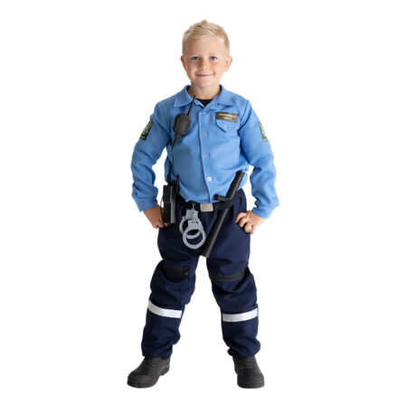 politibetjent kostume til dreng politimand fastelavnskostume dreng barn