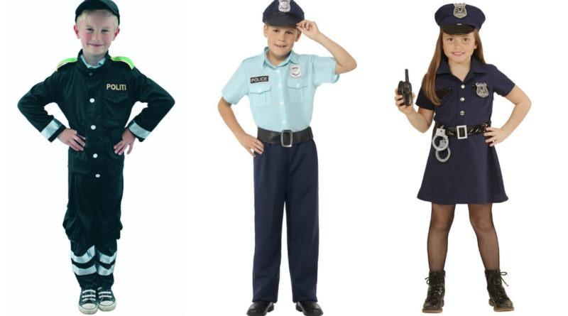 politimand kostume til børn politimand børnekostume politi udklædning fastelavn