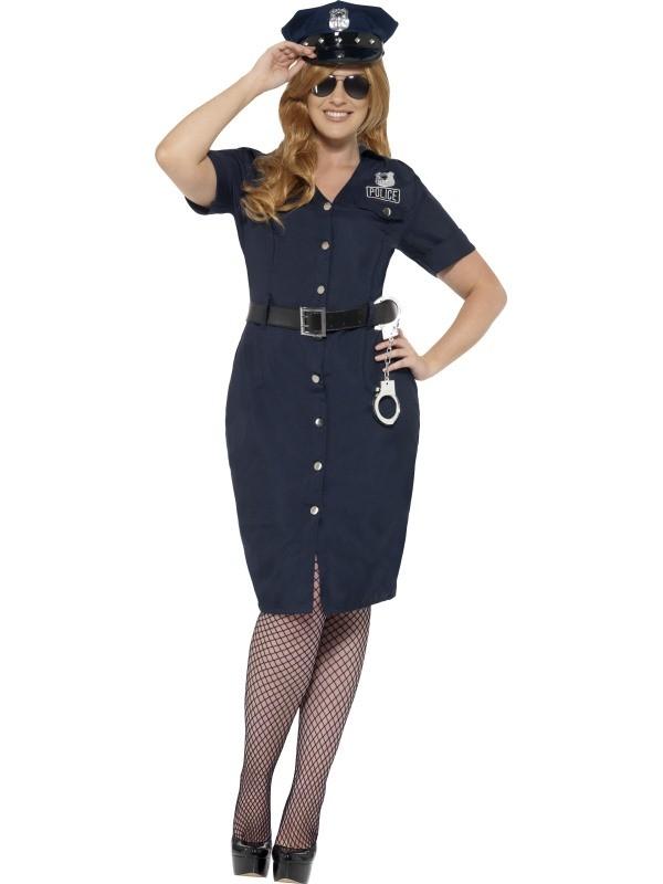 politimand kostume til voksne politibetjent kostume politiuniform kostume politibetjent udklædning fastelavn politikvinde kvindelig politibetjent plussize stor størrelse str 44