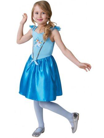 rainbow dash kostume til piger my little pomy udklædning blå kjole fastelavnskostume MLP kostume