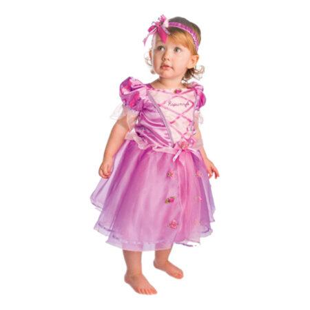 rapunzel babykostume rapunzel kostume til baby lyserødt fastelavnskostume til baby