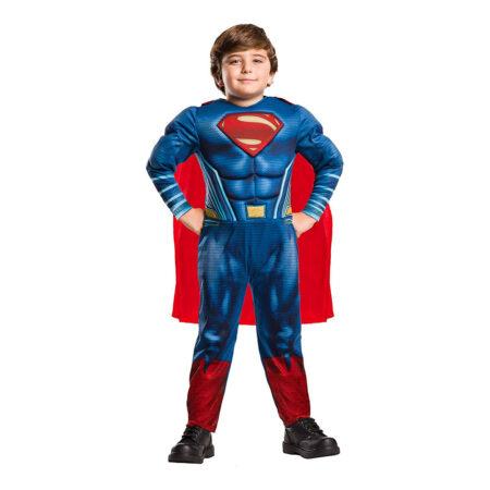 stålmanden supermand kostume til drenge. Vatteret supermand kostume fastelavnskostume til drenge