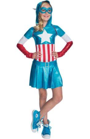 superhelte kostume til piger captain amerika kostume til piger