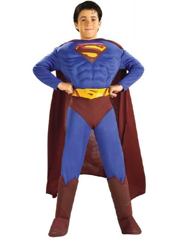 superman kostume til børn superheltekostume børnekostume superman udklædning luksus kostume deluxe superman kostume