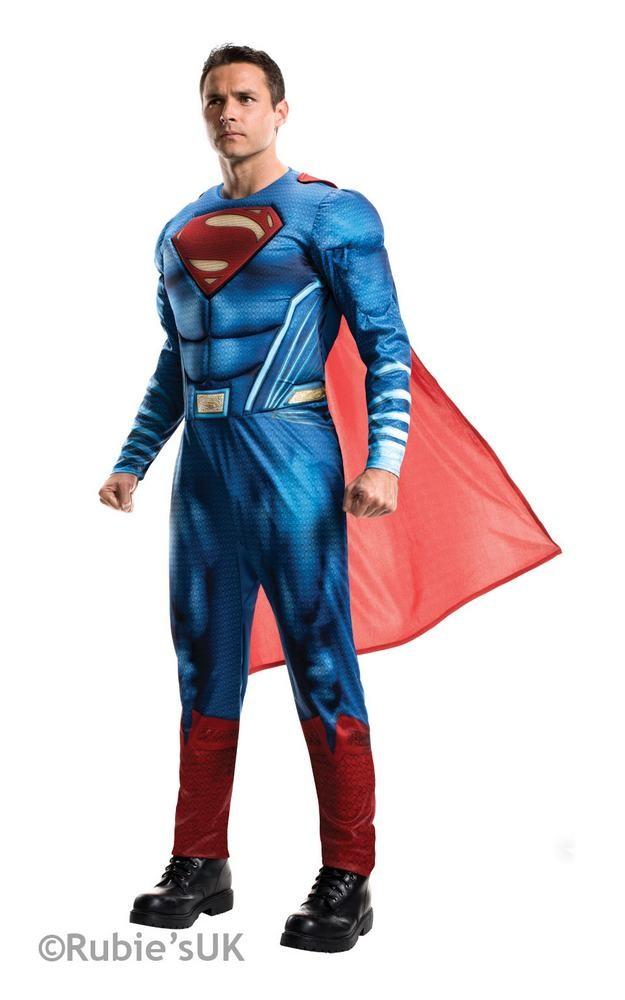 superman kostume til voksne superman dawn of justice kostume fastelavnskostume superheltekostume