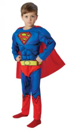 superman udklædning med muksler