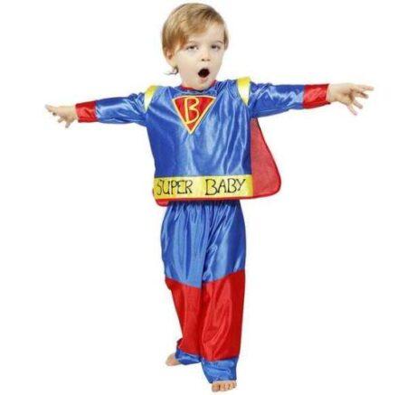 supermand babykostume supermand kostume til baby superhelt kostume til baby