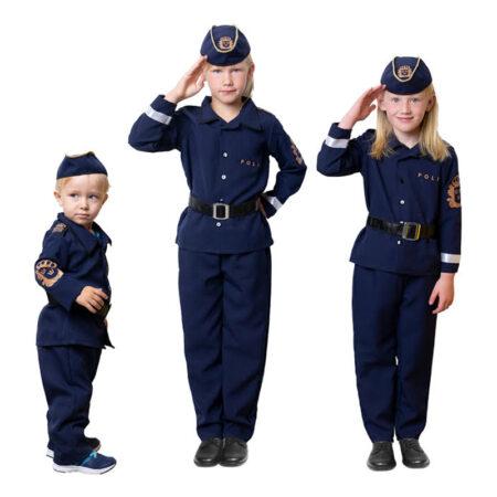 svensk kostume politi kostume til børn svensk politi kostume
