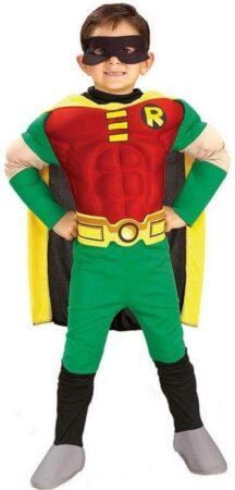 titan robin luksus kostume til børn batman superhelt kostume