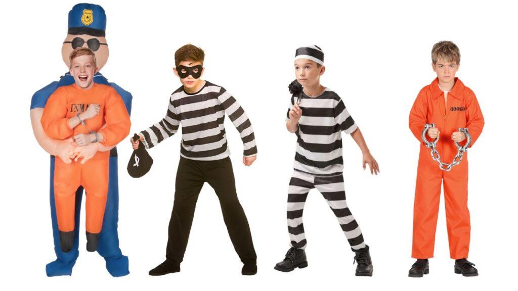 tyveknægt kostume tyv udklædning tyv kostume fangedragt til børn