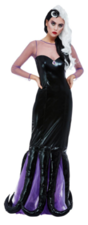ursula kostume til voksne ariel søheks kostume sort kostume til voksne ond kvinde kostume