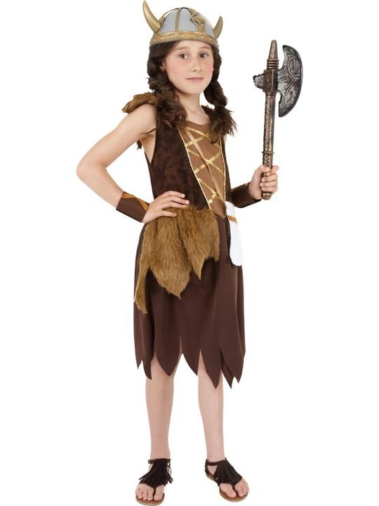 viking kostume til børn vikingekostume barn viking udklædning vikingepige kostume pige viking kostume