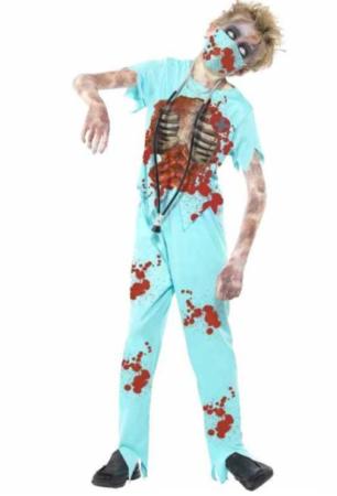 zombie læge børnekostume halloween børnekostume