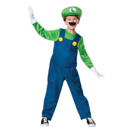 Luigi børnekostume 1 450x450 - Super Mario kostume til børn