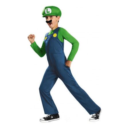 Luigi børnekostume 450x450 - Super Mario kostume til børn