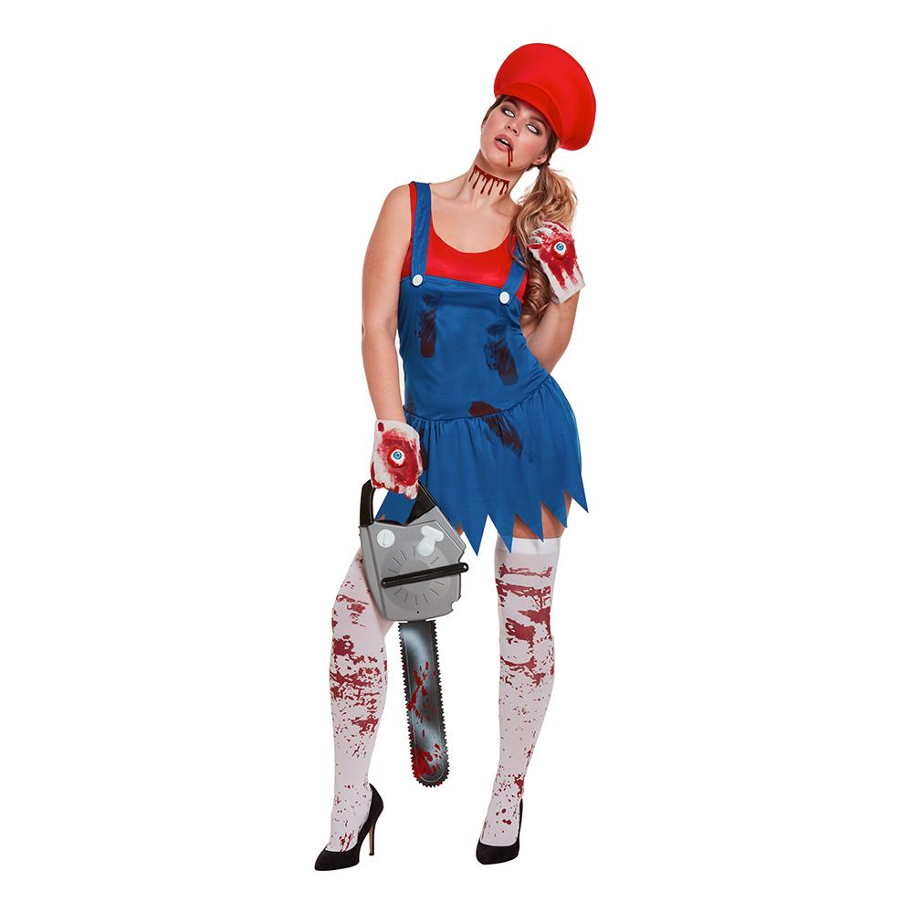 Super mario zombie kostume - Super Mario kostume til voksne