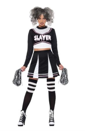 gotisk cheerleader 293x450 - Cheerleader kostume til voksne