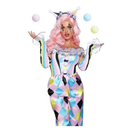 parisisk klovn damekostume 450x450 - Klovne kostume til voksne