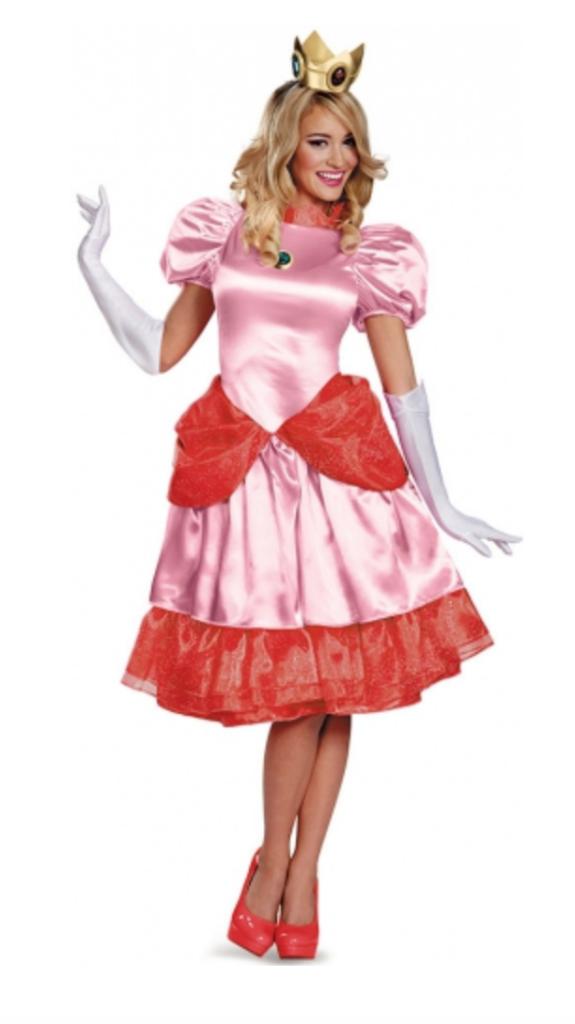 prinsesse peach 575x1024 - Super Mario kostume til voksne