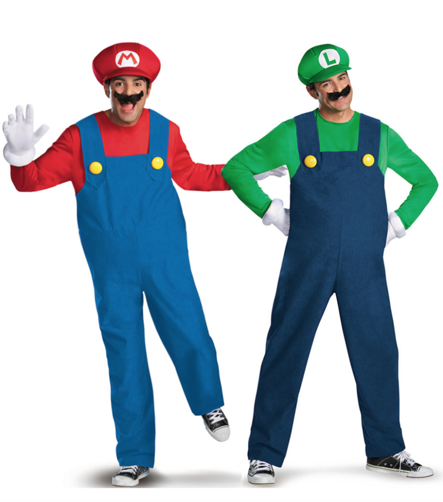 super mario parkostume 905x1024 - Super Mario kostume til voksne