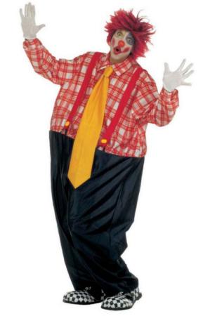 tyk klovn kostyme plus size klovn kostume til voksne