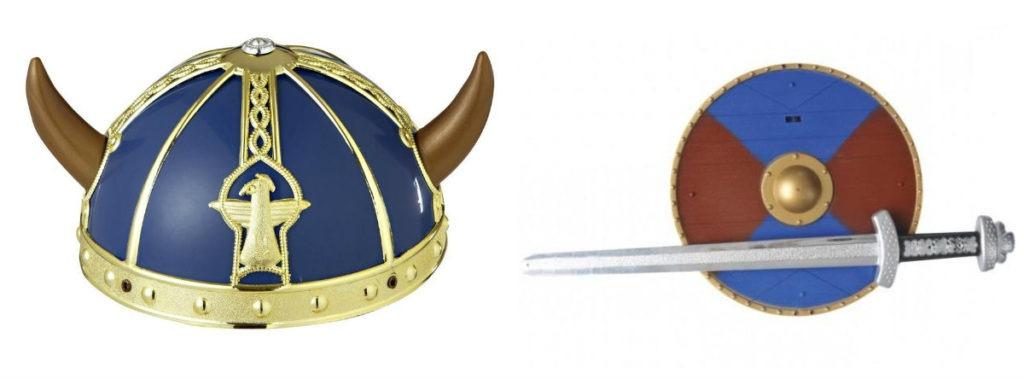 viking kostume til børn vikingetilbehør vikingehjelm til børn vikingeskjold til børn