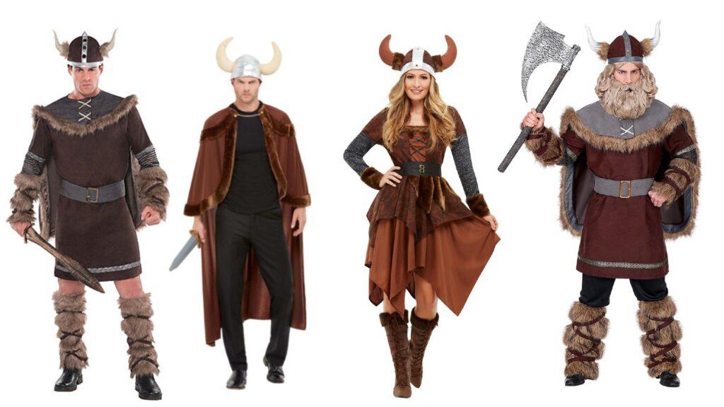 viking kostume til voksne viking kostume kvinde viking udklædning mand viking temafest viking hjelm viking sværd viking våben