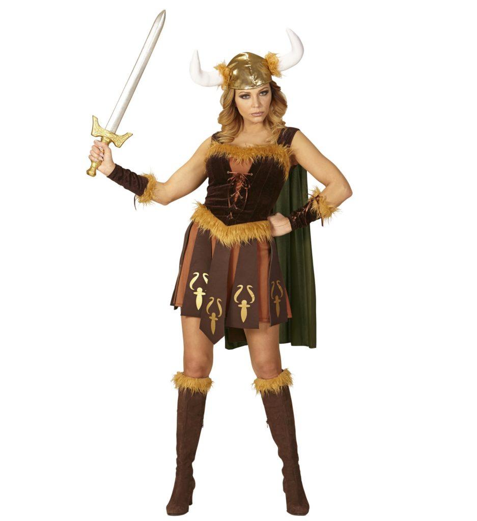 viking kostume til voksne vikingekostume til kvinder vikingekvinde kostume vikingepige kriger kvinde vikingetiden udklædning