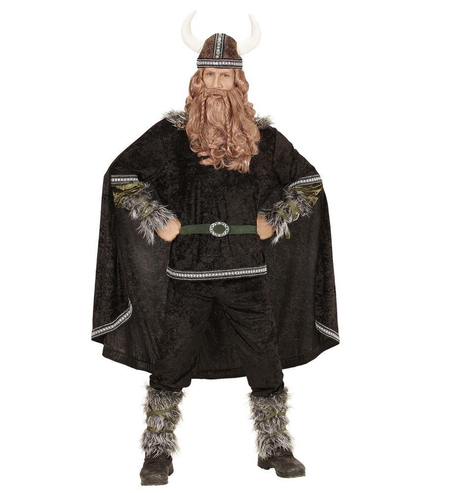 viking kostume til voksne vikingekostume til mænd nordisk vikingsudklædning mørk vikingekostume viking med kappe vikingeskæg