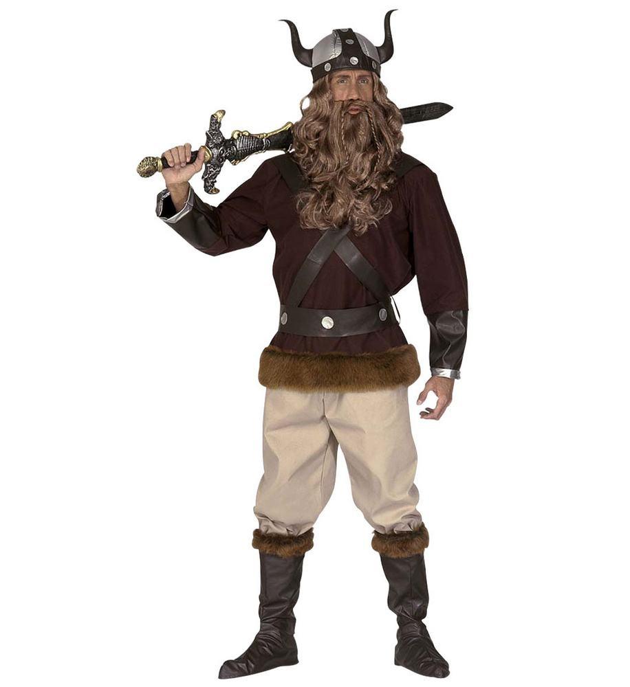 viking kostume til voksne vikingekostume til mænd nordisk vikingsudklædning sej vikingekostume viking med kappe vikingeskæg