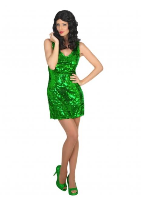 sankt patricks day kjole grøn paliet kjole grøn glimmer kjole grøn glitter kjole kostume sankt patricks day kostume til kvinder