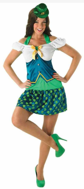 sankt patricks day kjole sankt patriks dag kjole sankt patricks day kostume til kvinder grønt kostume til kvinder frøken leprechaun