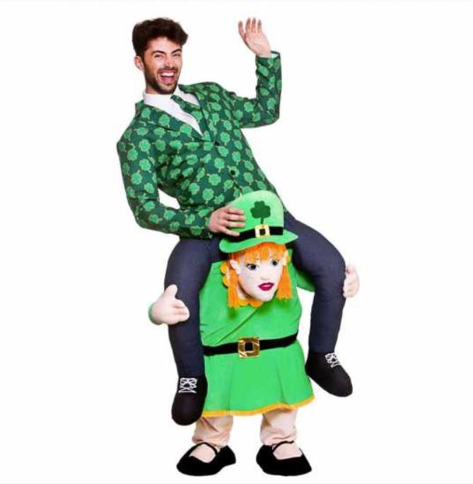 sankt patricks day kostume til mænd carry me kostume luksus kostume skt patricks day kostume sankt patricks dag udklædning grønt kostume