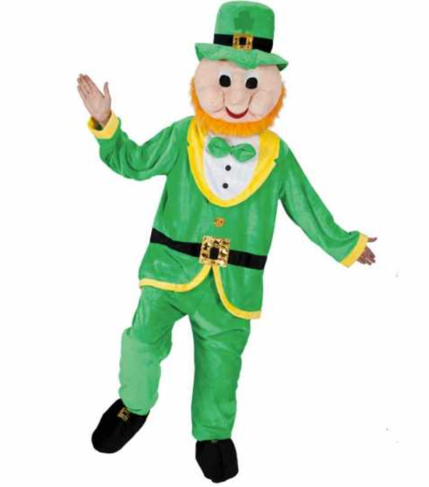 sankt patricks day kostume til mænd maskot kostume luksus kostume skt patricks day kostume sankt patricks dag udklædning grønt kostume