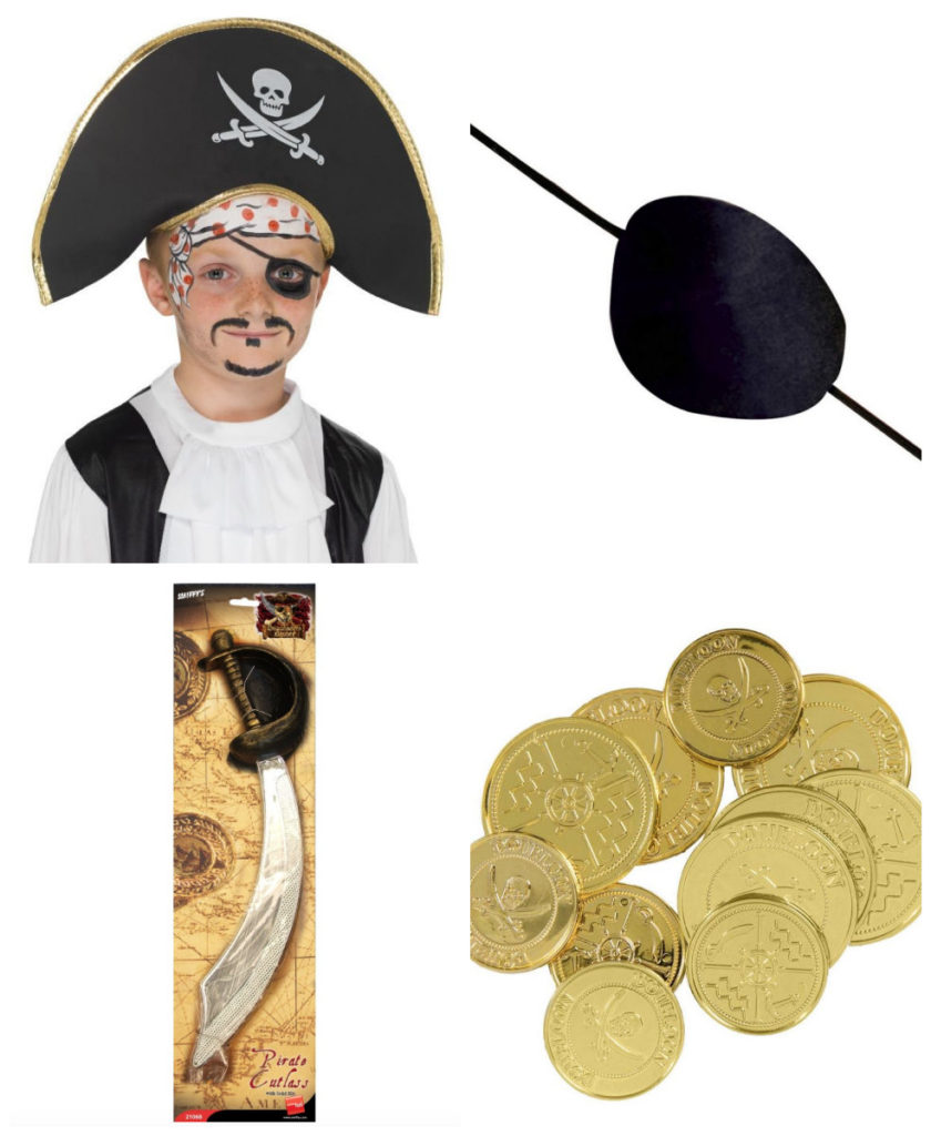 collage 4 840x1024 - Pirat kostume til børn