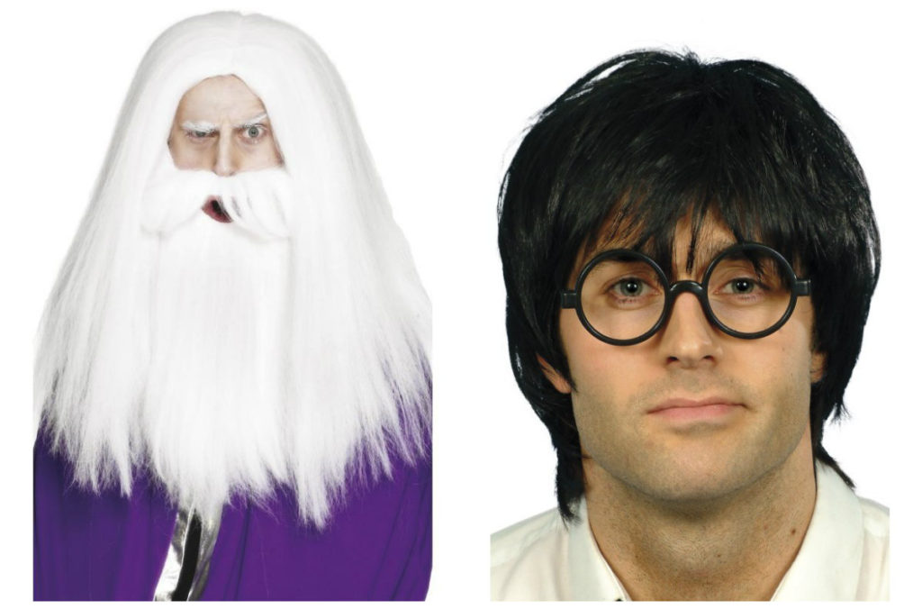harry potter kostume til voksne harry potter magisk troldmandskostume paryk harry potter paryk harry potter briller