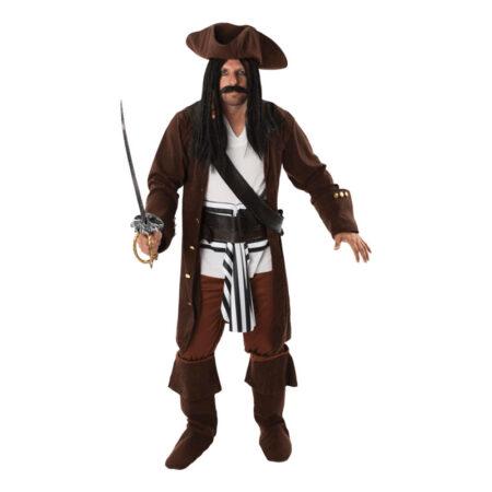 klassisk pirat kostume til mænd mandlig pirat udklædning pirat temafest kostume
